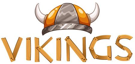 vikingo: Ilustraci�n de un casco vikingo