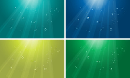 glows: Illustration of four pattern of water background