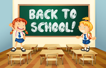 knowledge clipart: Illustration of a back to school sign Illustration