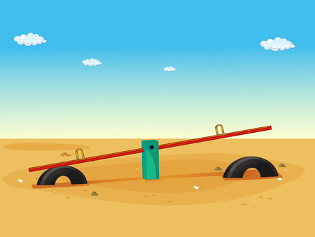 Illustration of a seesaw in the playground