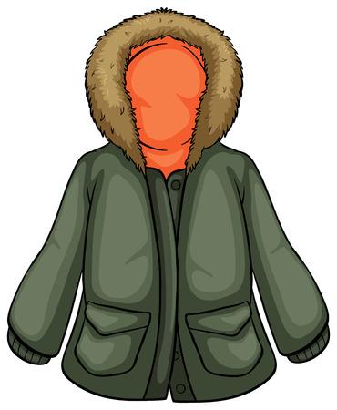 parka: Illustration of a close up parka jacket