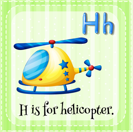 phonetic: H is for helicopter Illustration