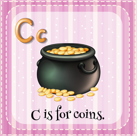 phonetic: Alphabet C is for coins