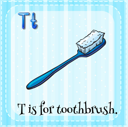 phonetic: Alphabet T is for toothbrush