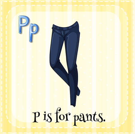 phonetic: Alphabet P is for pants