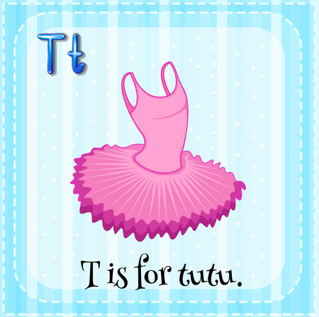 cartoon words: T is for tutu