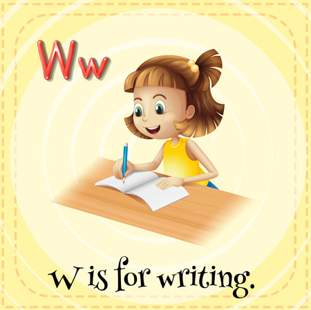 phonetic: Alphabet W is for writing Illustration