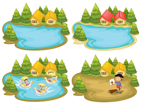 lake: houses by the lake
