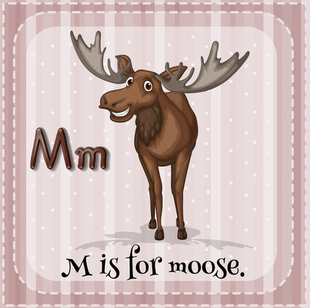 M is for moose Vector