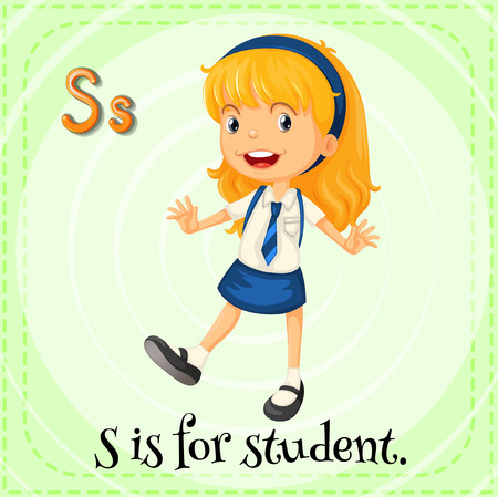 phonetic: S is for student Illustration