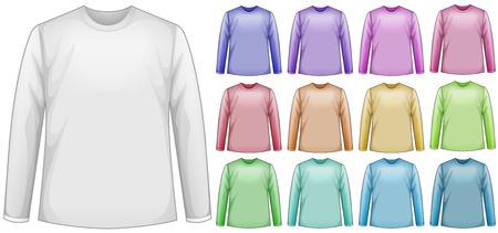 long sleeves: Illustration of a blank long sleeves shirt Illustration