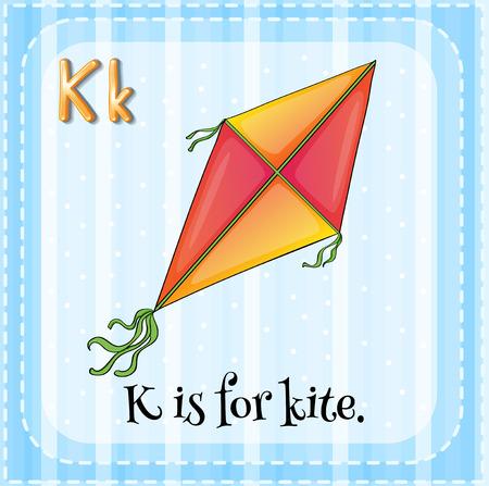 Alphabet K is for kite Vector