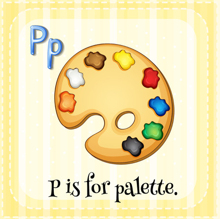 phonetic: Alphabet P is for palette