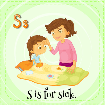 phonetic: S is for sick Illustration