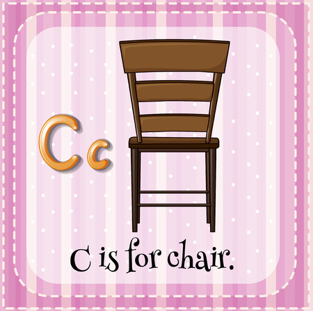 phonetic: Alphabet C is for chair
