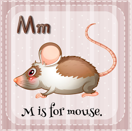 M is for mouse Vector