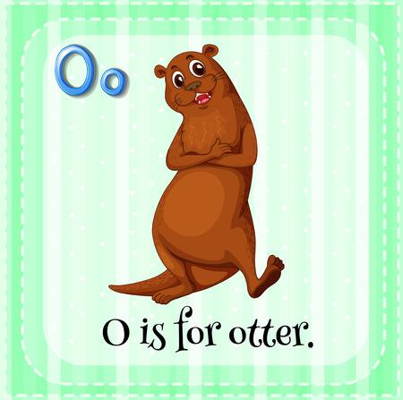 otter: O is for otter Illustration
