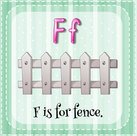 Alphabet F is for fence Vector