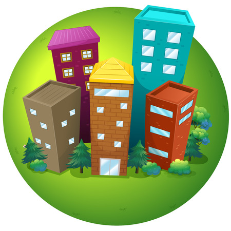 residential zone: high buidlings in the park