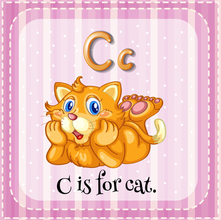 phonetic: C is for cat Illustration