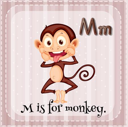 phonetic: Alphabet M is for monkey