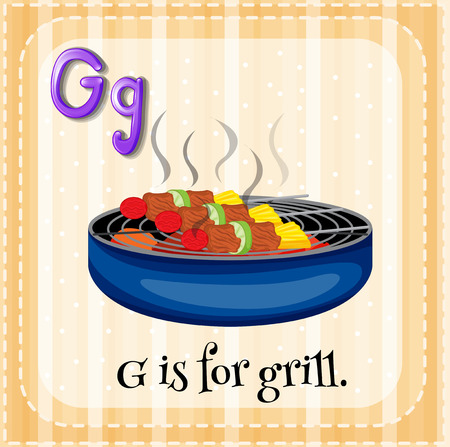 barbecue stove: G is for grill