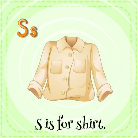 phonetic: Alphabet S is for shirt Illustration