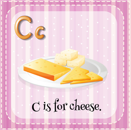 phonetic: Alphabet C is for cheese Illustration