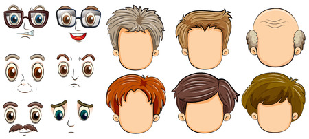 hair style collection: many faces of men