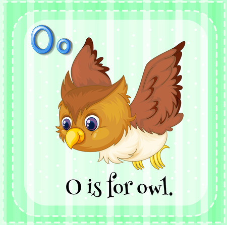 phonetic: O is for owl Illustration
