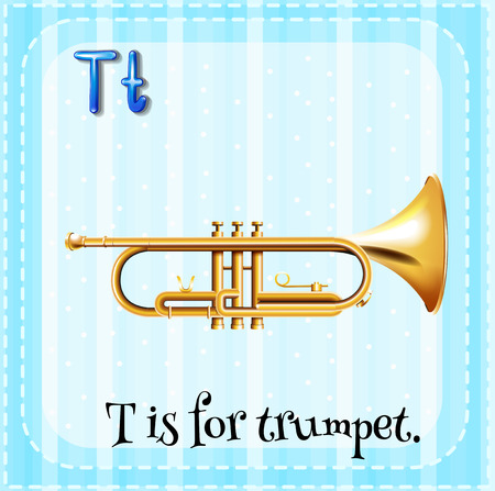 phonetic: Alphabet T is for trumpet