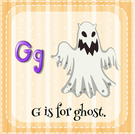 Letter G is for ghost Vetores