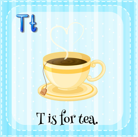 phonetic: T is for tea Illustration