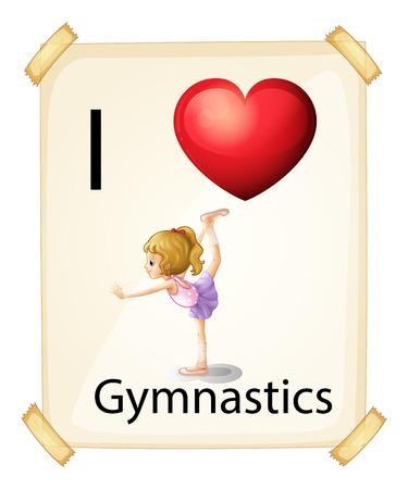 I love gymnastics sign