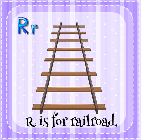wood railroad: Alphabet R is for railroad Illustration