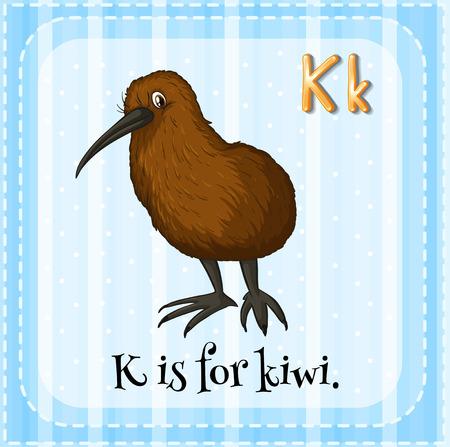 phonetic: Alphabet K is for kiwi