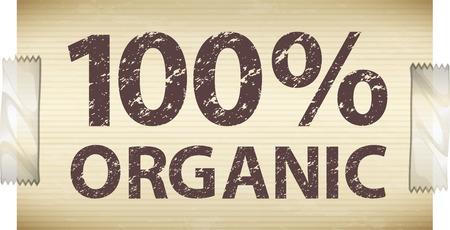Advertisement for organic things Illustration