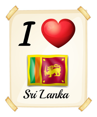 sri lanka: I love Sri Lanka banner Illustration