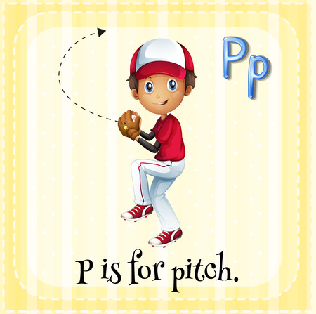 phonetic: Letter P is for pitch Illustration