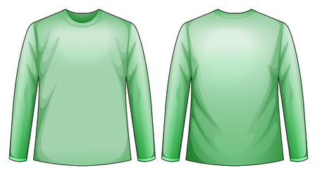 long sleeves: Long sleeves shirt with back and front view