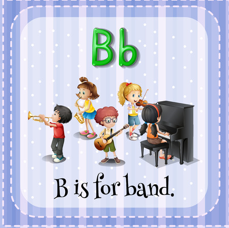 phonetic: Alphabet B is for band