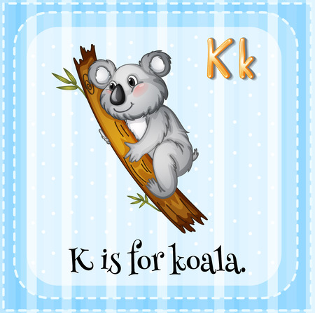Alphabet K is for koala Vector