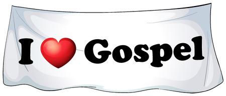 canonical: I love Gospel banner hanging