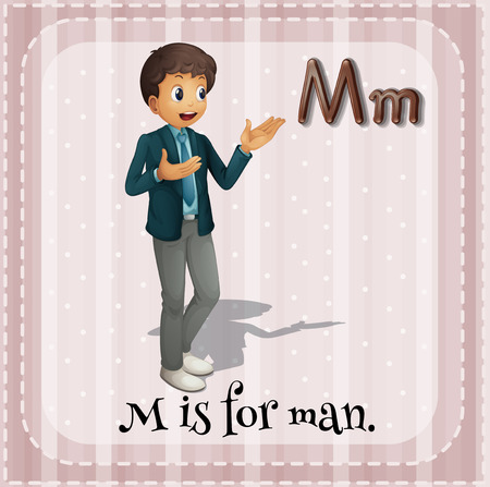 phonetic: Letter M is for man