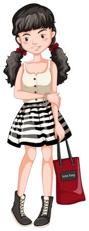hand bag: adolescente posando con el bolso de mano