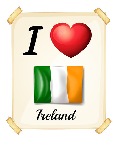 posted: I love Ireland sign posted on the wall