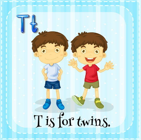 phonetic: Letter T is for twins