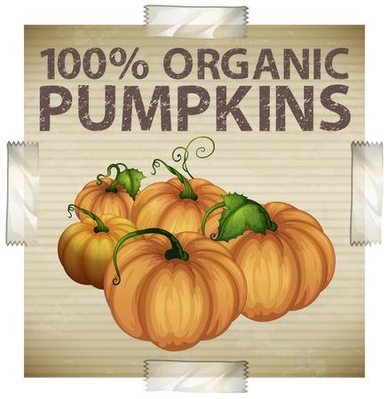 nontoxic: Advertisement for organic pumpkins