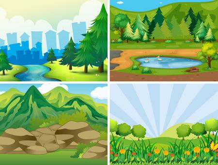 Cuatro escenas del parque