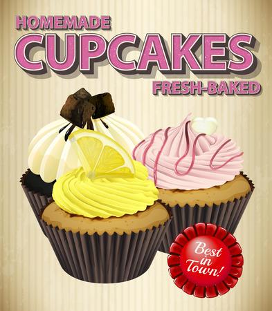 rasberry: Homemade cupcake with three flavors